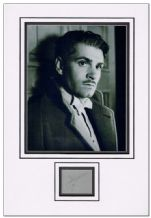 Laurence Olivier Autograph Display
